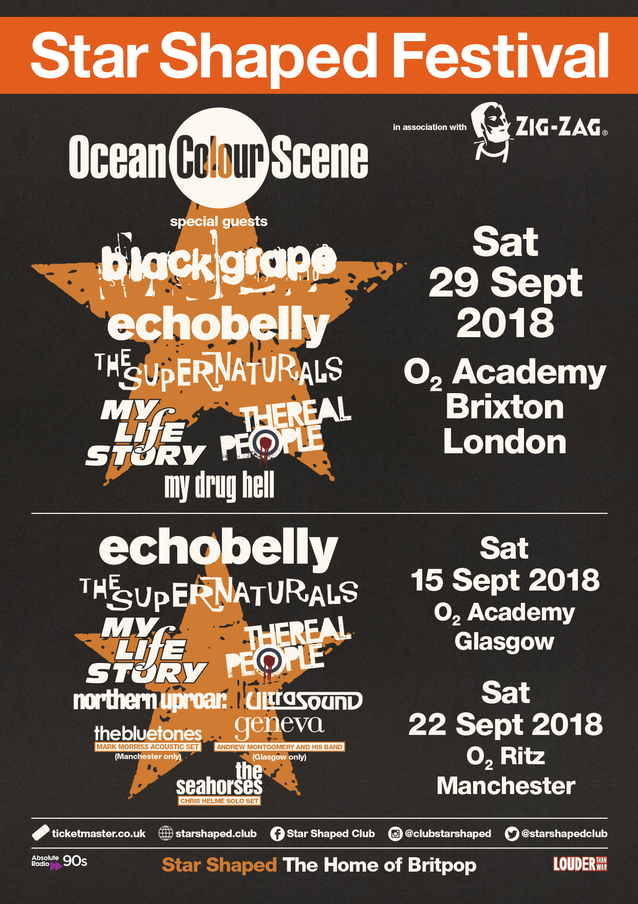 Star Shaped Festival 2018 - The one-day Britpop festival!