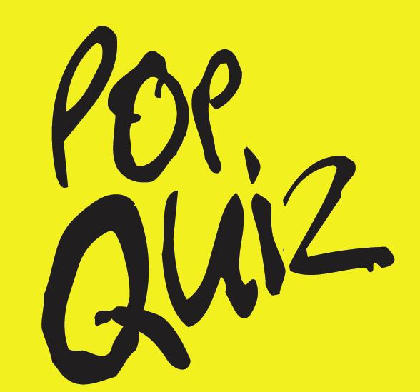 Pop Quiz! Test your Classic Pop knowledge!