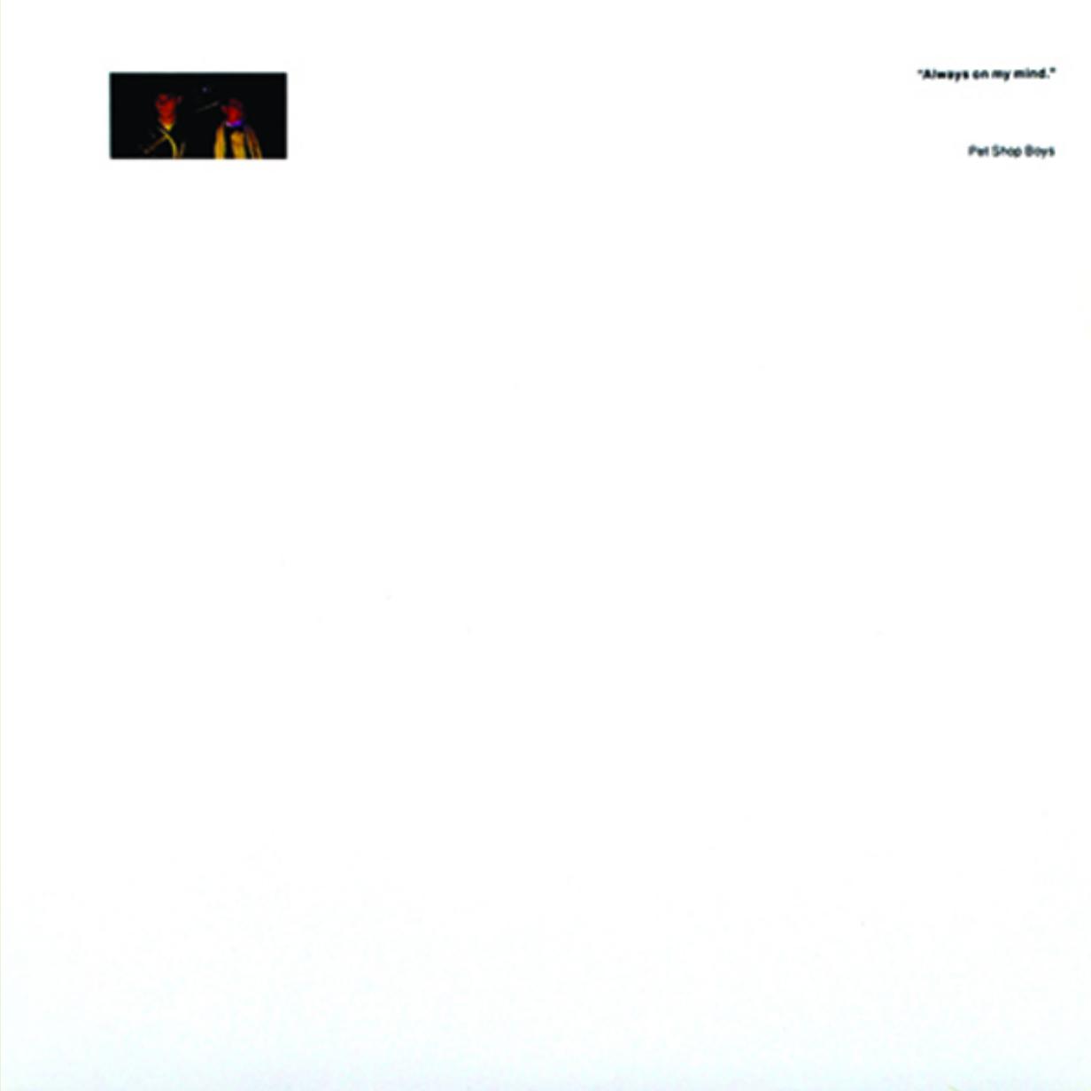 The Lowdown: Pet Shop Boys - Always On My Mind