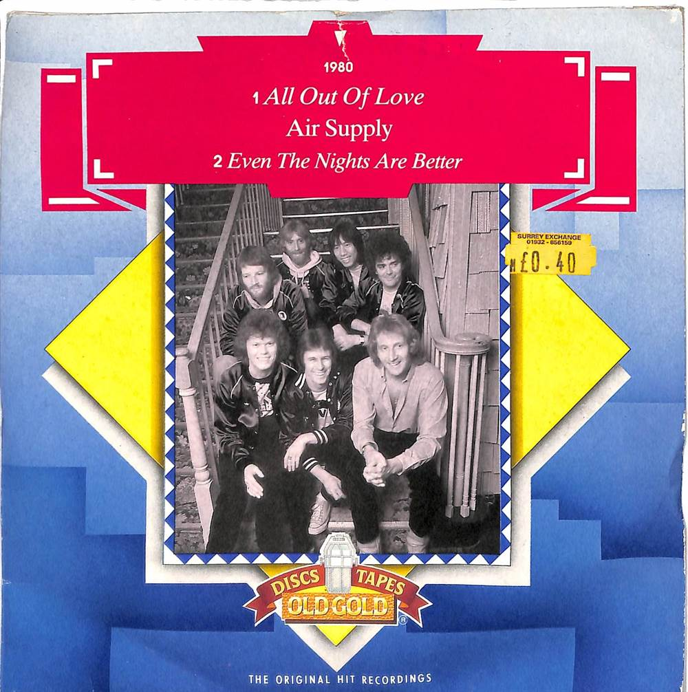 One Hit Wonder: Air Supply - All Out Of Love