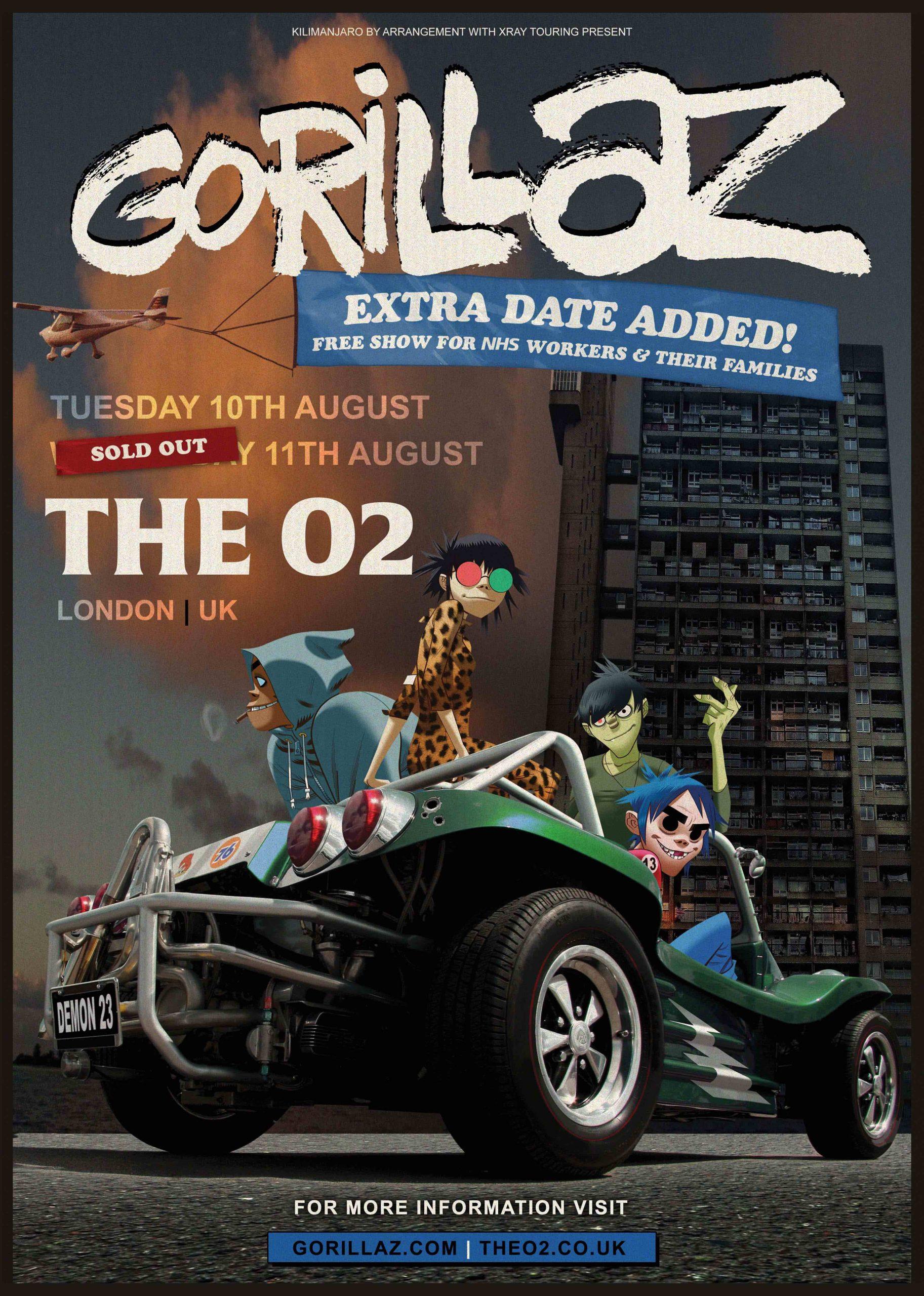 Gorillaz free show
